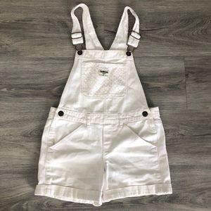 OshKosh B'gosh Embroidered Girl's White Overall